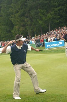 Mark Hensby during the final round of of the 2005 Scandinavian Masters at Kungsangen Golf Club in Stockholm, Sweden on July 31, 2005.Photo by Torsten Laursen/WireImage.com