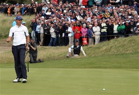 SOUTHPORT, UNITED KINGDOM - JULY 20:  Padraig Harrington of the Republic of Ireland  misses a par putt on the 7th during the final round of the 137th Open Championship on July 20, 2008 at Royal Birkdale Golf Club, Southport, England.  (Photo by David Cannon/Getty Images)