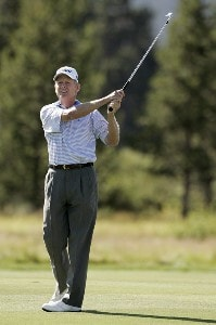 SUNRIVER, OR - AUGUST 16:  Mike Reid during the first round of the JELD-WEN Tradition on the Crosswater Course at Crosswater Club at Sunriver in Sunriver, Oregon, on August 16, 2007.  Champions Tour - 2007 JELD-WEN Tradition - First RoundPhoto by Stan Badz/PGA TOUR/WireImage.com