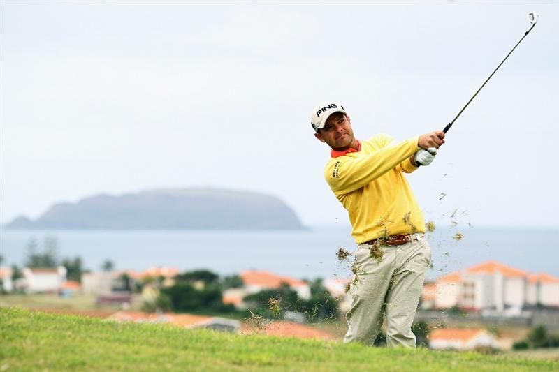 PORTO SANTO ISLAND, PORTUGAL - MAY 19:  Sebi Garcia of Spain plays his second shot on the 3rd hole during day one of the Madeira Islands Open on May 19, 2011 in Porto Santo Island, Portugal.  (Photo by Dean Mouhtaropoulos/Getty Images)
