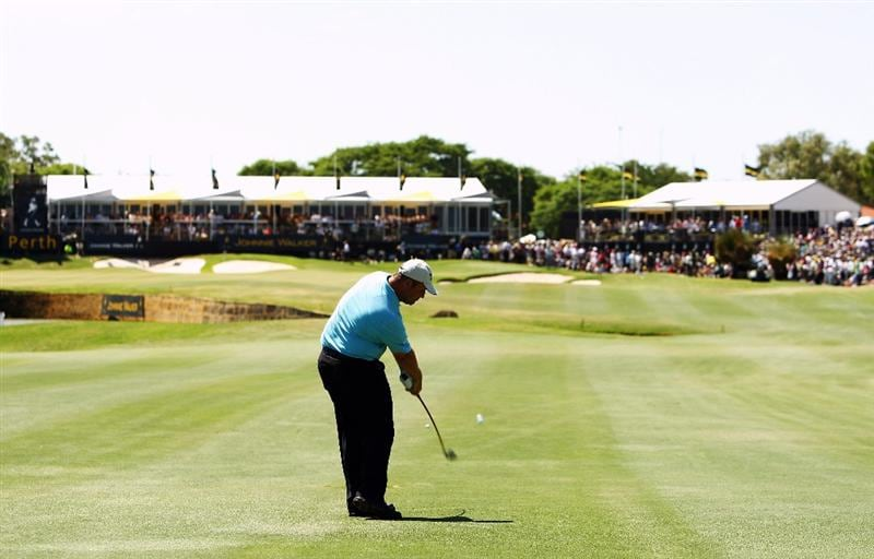 PERTH, AUSTRALIA - FEBRUARY 22:  John Bickerton of England plays an approach shot during round four of the 2009 Johnnie Walker Classic at The Vines Resort and Country Club on February 22, 2009 in Perth, Australia.  (Photo by Ian Walton/Getty Images)