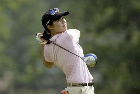 Aree Song drives on her way to a 70 during the first round of the 2005 McDonald's LPGA Championship at Bulle Rock Golf Course in  Havre de Grace, Maryland on June 9, 2005.Photo by Michael Cohen/WireImage.com