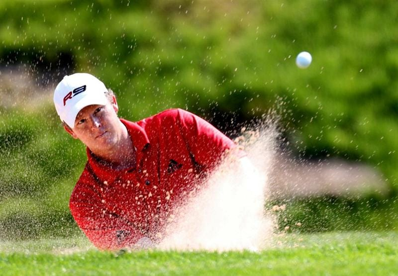 NEWPORT, WALES - JUNE 04:  Marcus Fraser of Australia during the second round of the Celtic Manor Wales Open on the 2010 Course at the Celtic Manor Resort on June 4, 2010 in Newport, Wales.  (Photo by Ross Kinnaird/Getty Images)