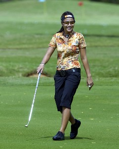 Defending champion Jennifer Rosales walks the first fairway  during the pro am at the 2006 SBS Open at Turtle Bay February 15 at Kahuku, Hawaii.Photo by Al Messerschmidt/WireImage.com