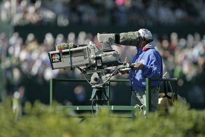 NBC television cameras capture the action on #18 during the third round of the Arnold Palmer Invitational presented by MasterCard held at Bay Hill Golf Club and Lodge in Orlando, Florida, on March 17, 2007. Photo by: Chris Condon/PGA TOURPhoto by: Chris Condon/PGA TOUR