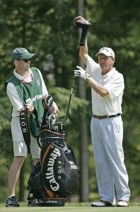 Mark Brooks competes in the first round of the B.C. Open held on the Atunyote course at Turning Stone Resort in Vernon, New York, on July 20, 2006.