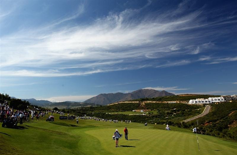 CASARES, SPAIN - MAY 22:  A general view of action during the final of the Volvo World Match Play Championship at Finca Cortesin on May 22, 2011 in Casares, Spain.  (Photo by Andrew Redington/Getty Images)