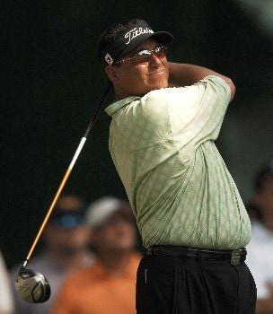 Robert Gamez hits from the third tee during the second round of the 2005 Bank of America Colonial at Colonial Country Club in Forth Worth, Texas May 20, 2005.Photo by Steve Grayson/WireImage.com
