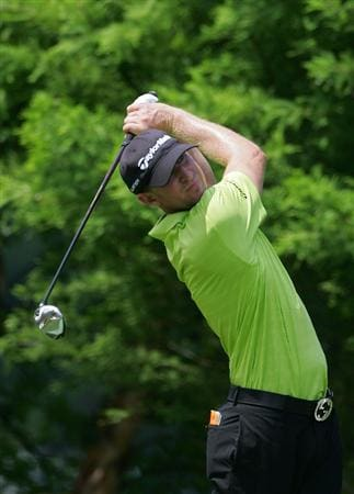 MEMPHIS, TN - JUNE 13:  Vaughn Taylor of the United States hits a drive during the third round of the St. Jude Classic at TPC Southwind held on June 13, 2009 in Memphis, Tennessee.  (Photo by Michael Cohen/Getty Images)
