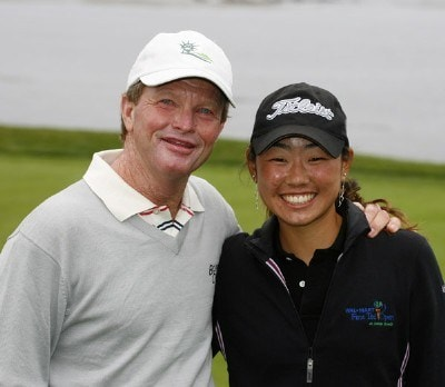 Tom Kite with junior partner, Mina Harigae won the Coca-Cola Champions Challenge of the Wal-Mart First Tee Open at Pebble Beach held at Pebble Beach Golf Links in Pebble Beach, California, on August 31, 2006.Photo by: Stan Badz/PGA TOUR