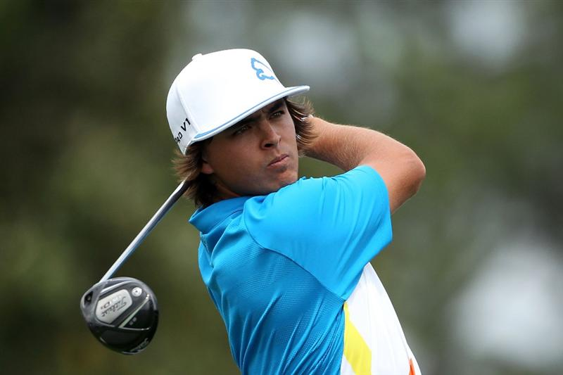 AUGUSTA, GA - APRIL 08:  Rickie Fowler hits his tee shot on the tenth hole during the second round of the 2011 Masters Tournament at Augusta National Golf Club on April 8, 2011 in Augusta, Georgia.  (Photo by Andrew Redington/Getty Images)