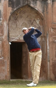 NEW DELHI, INDIA - FEBRUARY 08:  Maarten Lafeber of The Netherlands plays his tee shot on the fourth hole during the second round of the Emaar-MGF Indian Masters at the Delhi Golf Club on February 8, 2008 in Delhi, India.  (Photo by Stuart Franklin/Getty Images)