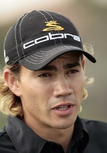 Camilo Villegas speaks with the media during practice day at the 2007 Honda Classic on the PGA National Champions Course in West Palm Beach, Florida. February 27, 2007. PGA TOUR - The 2007 Honda Classic - Practice - February 28, 2007Photo by Pete Fontaine/WireImage.com