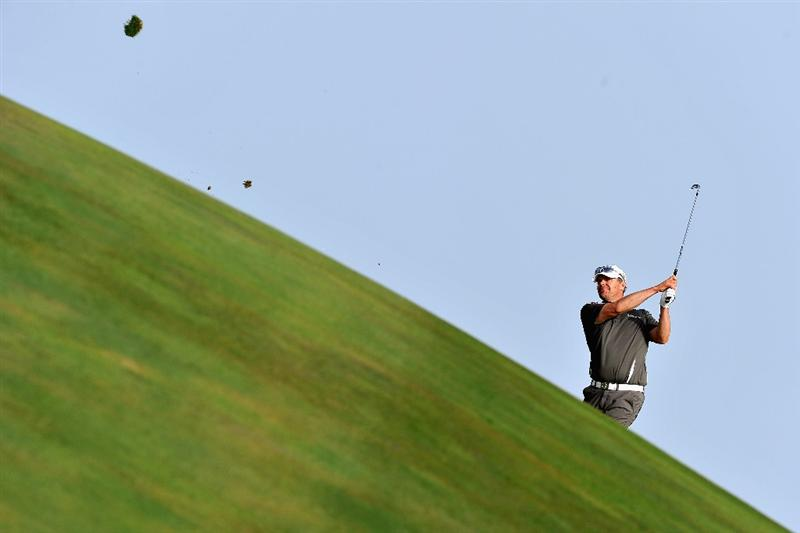 AGADIR, MOROCCO - APRIL 02:  Joakim Haeggman of Sweden plays a shot during the third round of the Trophee du Hassan II Golf at the Golf du Palais Royal on April 1, 2011 in Agadir, Morocco.  (Photo by Stuart Franklin/Getty Images)