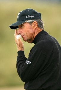 Gary Player (RSA) during the third round of the 2006 Senior British Open Championship at The Westin Turnberry Resort in Ayrshire, Scotland on Saturday, July 29, 2006.Photo by Matthew Harris/WireImage.com