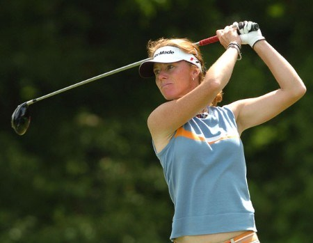 Helen Alfredsson in action during the final round of the 2005 Wendy's Championship For Children at Tartan Fields Golf Club in Dublin, Ohio August 28, 2005.Photo by Steve Grayson/WireImage.com