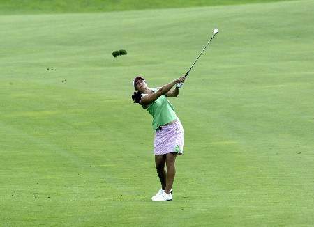 Laura Diaz plays an iron during the second round of the 2005 McDonald's LPGA Championship at Bulle Rock Golf Course in  Havre de Grace, Maryland on June 10 2005.Photo by Michael Cohen/WireImage.com