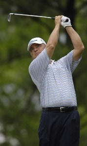 David Eger during the first round of the Regions Charity Classic held at Robert Trent Jones Golf Trail at Ross Bridge in Birmingham, AL, on May 5, 2006.Photo by Steve Levin/WireImage.com