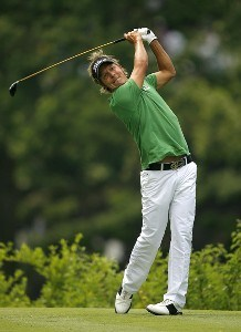Fredrik Jacobson during the second round of the Memorial Tournament Presented by Morgan Stanley held at Muirfield Village Golf Club in Dublin, Ohio, on May 31, 2007. Photo by Mike Ehrmann/WireImage.com