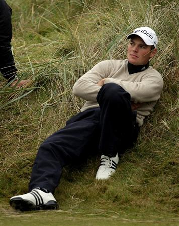 CARNOUSTIE, SCOTLAND - OCTOBER 09:  Martin Kaymer of Germany waits to play his drive on the sixth tee during the third round of The Alfred Dunhill Links Championship at the Carnoustie Golf Links on October 9, 2010 in Carnoustie, Scotland.  (Photo by Andrew Redington/Getty Images)