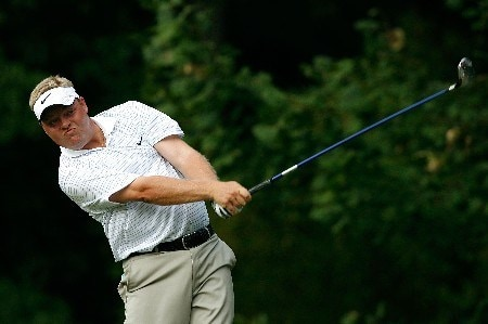 GREENSBORO, NC - AUGUST 16:  Carl Pettersson tees off the 13th hole during the third round of the 2008 Wyndham Championship at Sedgefield Country Club on August 16, 2008 in Greensboro, North Carolina.  (Photo by Kevin C. Cox/Getty Images)