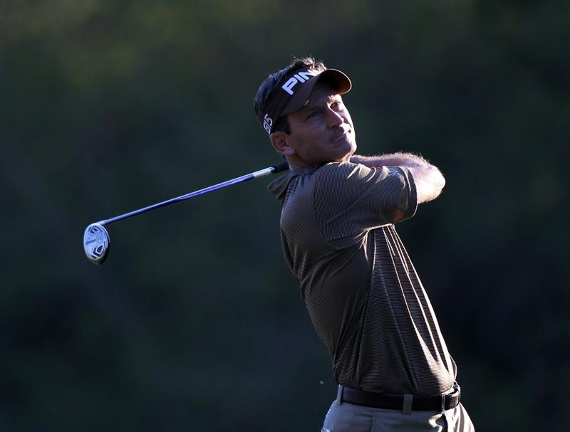 PALM HARBOR, FL - MARCH 17:  Mark Wilson plays a shot on the 17th hole during the first round of the Transitions Championship at Innisbrook Resort and Golf Club on March 17, 2011 in Palm Harbor, Florida.  (Photo by Sam Greenwood/Getty Images)