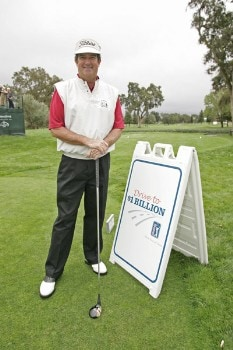 Bruce Lietzke poses with the persimmon driver used to promote the 'Drive To A Billion' campaign Wednesday October 26, during the 2005 Schwab Cup Championship at Sonoma Golf Club - Sonoma, California.Photo by Chris Condon/PGA TOUR/WireImage.com