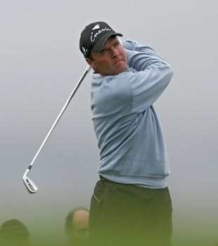 Thomas Levet of France during the third round of the 2005 Algarve World Cup at the Victoria Golf Club in Vilamoura, Portugal on November 19, 2005.Photo by Phil Inglis/WireImage.com