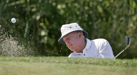 Jim Albus in action during the second round at the FORD Senior Players Championship, July 8,2005, held at  the TPC of Michigan, Dearborn, Michigan.Photo by Stan Badz/PGA TOUR/WireImage.com