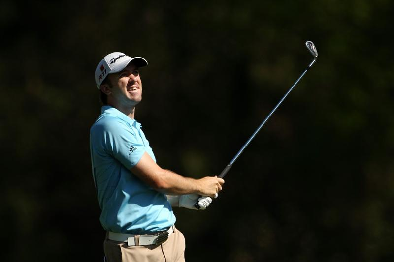 AUGUSTA, GA - APRIL 04:  Martin Laird of Scotland watches a shot during a practice round prior to the 2011 Masters Tournament at Augusta National Golf Club on April 4, 2011 in Augusta, Georgia.  (Photo by Andrew Redington/Getty Images)