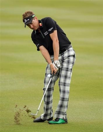 CASARES, SPAIN - MAY 20:  Ian Poulter of England during the group stages of the Volvo World Match Play Championship at Finca Cortesin on May 20, 2011 in Casares, Spain.  (Photo by Ross Kinnaird/Getty Images)
