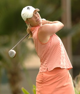 Michelle McGann in action during the first round of the inaugural 2006 Fields Open in Hawaii at Ko Olina Golf Club in Kapolei, Hawaii February 23, 2006.Photo by Steve Grayson/WireImage.com