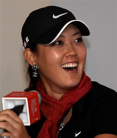 SINGAPORE - FEBRUARY 23: Michelle Wie of the USA during a photocall at Raffles Hotel prior to the HSBC Women's Champions at the Tanah Merah Country Club on February 23, 2010 in Singapore, Singapore.  (Photo by Ross Kinnaird/Getty Images)