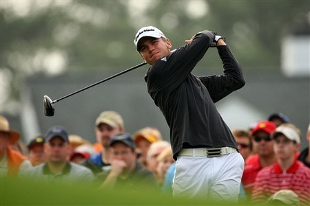 AUGUSTA, GA - APRIL 11:  Sean O'Hair watches his tee shot on the first hole during the second round of the 2008 Masters Tournament at Augusta National Golf Club on April 11, 2008 in Augusta, Georgia.  (Photo by Andrew Redington/Getty Images)