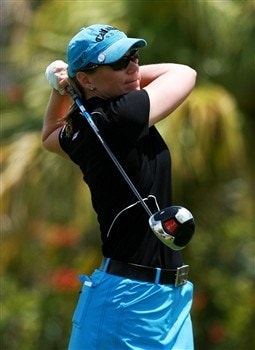 AVENTURA, FL - APRIL 27:  Annika Sorenstam follows her drive on the sixth hole during the final round of the Stanford International Pro-Am at Fairmont Turnberry Isle Resort & Club on April 27, 2008 in Aventura, Florida.  (Photo by Doug Benc/Getty Images)