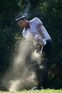 Jesper Parnevik of Sweden tees off on the sixth hole during the first round of the Valero Texas Open at La Cantera Golf Club October 4, 2007 in San Antonio, Texas. PGA TOUR - 2007 Valero Texas Open - First RoundPhoto by Jonathan Ferrey/WireImage.com