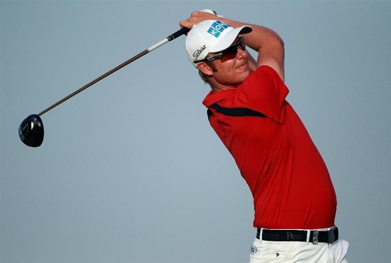 BAHRAIN, BAHRAIN - JANUARY 29:  Mikko Ilonen of Finland hits his tee-shot on the first hole during the third round of the Volvo Golf Champions at The Royal Golf Club on January 29, 2011 in Bahrain, Bahrain.  (Photo by Andrew Redington/Getty Images)
