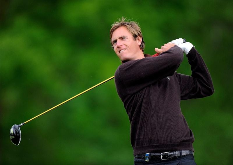 TURIN, ITALY - MAY 07:  Nicolas Colsaerts of Belguim plays his tee shot on the 17th hole during the second round of the BMW Italian Open at Royal Park I Roveri on May 7, 2010 in Turin, Italy.  (Photo by Stuart Franklin/Getty Images)