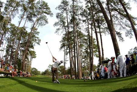 AUGUSTA, GA - APRIL 10:  Trevor Immelman of South Africa hits his tee shot on the 17th hole during the first round of the 2008 Masters Tournament at Augusta National Golf Club on April 10, 2008 in Augusta, Georgia.  (Photo by Harry How/Getty Images)