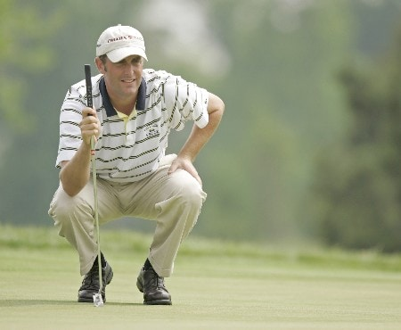 Jeff Gove on the 9th hole during the second round of the 2005 LaSalle Bank Open at the The Glen Club in Glenview, Illinois on June 10, 2005.Photo by Mike Ehrmann/WireImage.com