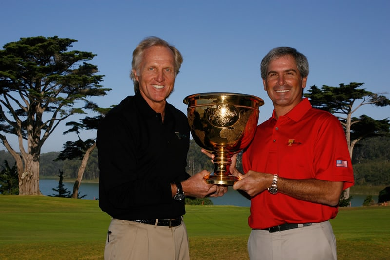 Greg Norman and Fred Couples