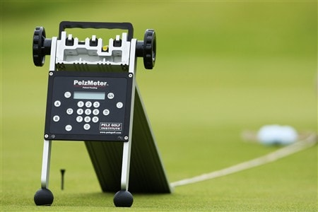 SOUTHPORT, UNITED KINGDOM - JULY 15:  A Pelzmeter used to test green speeds is seen during the second practice round of the 137th Open Championship on July 15, 2008 at Royal Birkdale Golf Club, Southport, England. (Photo by Stuart Franklin/Getty Images)