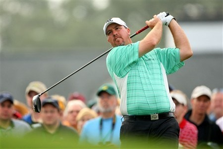AUGUSTA, GA - APRIL 11:  Boo Weekley watches his tee shot on the first hole during the second round of the 2008 Masters Tournament at Augusta National Golf Club on April 11, 2008 in Augusta, Georgia.  (Photo by Andrew Redington/Getty Images)