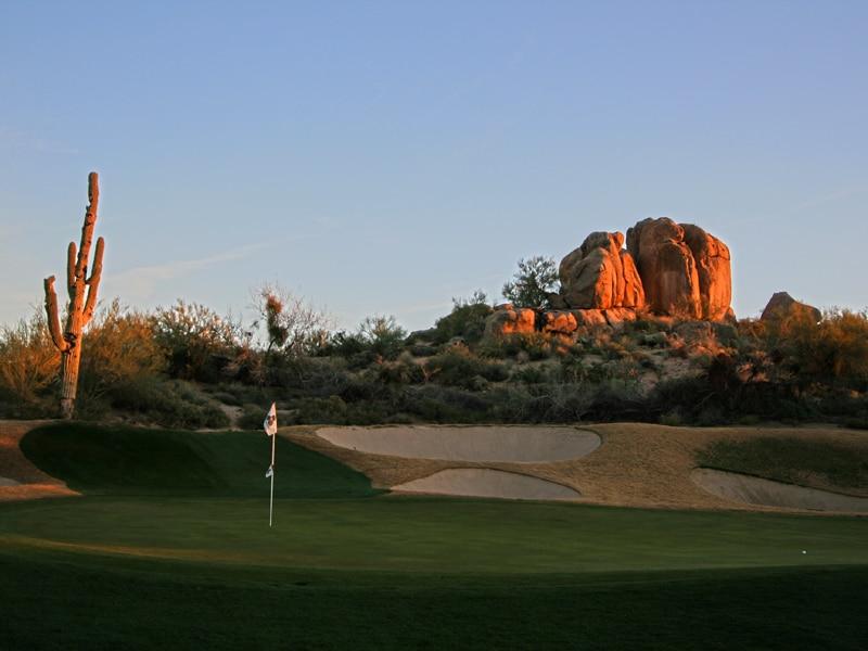 Sunset at Boulders Resort in Scottsdale
