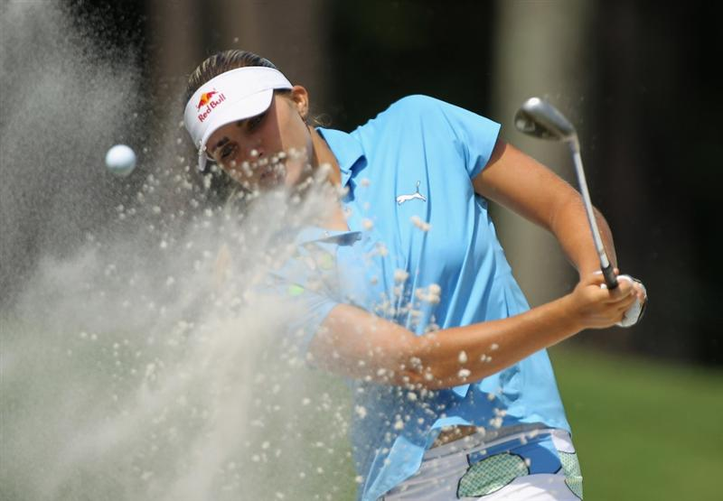 MOBILE, AL - MAY 01:  Alexis Thompson plays a bunker shot on the 11th hole during the final round of the Avnet LPGA Classic at the Crossings Course at the Robert Trent Jones Trail at Magnolia Grove on May 1, 2011 in Mobile, Alabama.  (Photo by Scott Halleran/Getty Images)