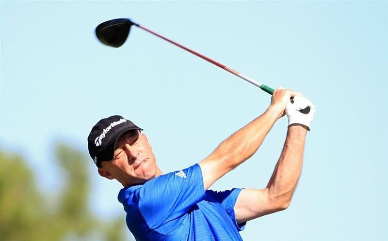 MADISON, MS - OCTOBER 01:  Nathan Green of Australia hits a drive during the second round of the Viking Classic held at Annandale Golf Club on October 1, 2010 in Madison, Mississippi.  (Photo by Michael Cohen/Getty Images)