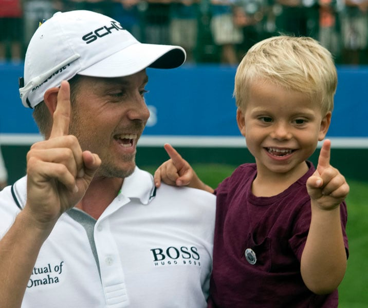 Henrik Stenson and son Karl