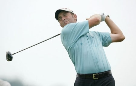 Jeff Gove in action during the first round of the 2005 National Mining Association's Pete Dye Classic at  Pete Dye Golf Club in Bridgeport, West Virginia on Thursday, July 7, 2005.Photo by Hunter Martin/WireImage.com