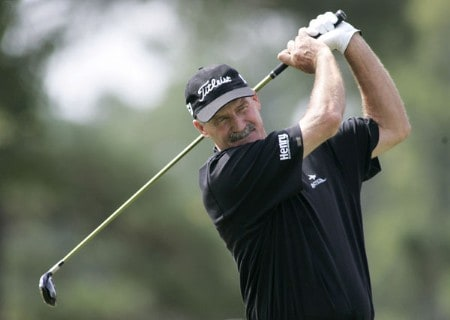 R.W. Eaks tees off on the second hole during the second round of the 2005 SAS Championship on Saturday, October 1, 2005 at Prestonwood Country Club in Cary, North Carolina.Photo by Grant Halverson/WireImage.com