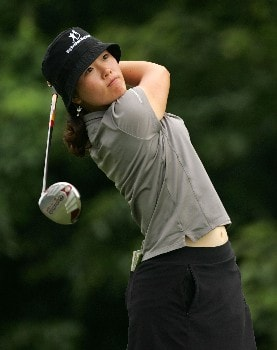 HAVRE DE GRACE, MD - JUNE 10:  Angela Park  hits her tee shot on the par 4 9th hole during the final round of the McDonalds LPGA Championship at Bulle Rock golf course on June 10, 2007 in Havre de Grace, Maryland.  (Photo by Andy Lyons/Getty Images)